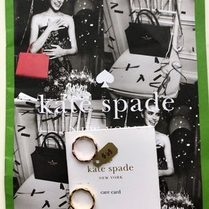 Bnwt Kate spade gold with diamonds ring